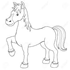 illustration of a horse coloring book royalty free cliparts