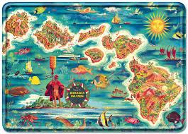Map Hawaii Love This Illustrated Map Of Hawaii Hawaii Pinterest