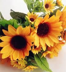 4pcs per lot fake sunflower bunch yellow gerbera flowers for