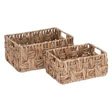 woodland imports set of 2 wicker baskets walmart com