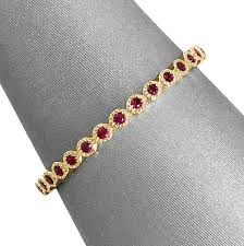 ruby band milgrain bezel ruby band eternity bridal collection
