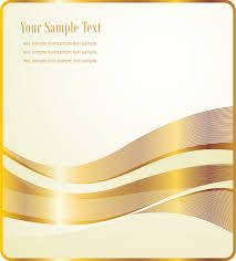 gold ribbons gold ribbons poster background template vector