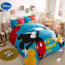 Mickey Mouse Bed Sets Blue Mickey Mouse Printed Bedding Sets For Children S Boys Bedroom