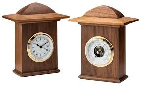Wood Clock Designs by Lutyens Contemporary Clock And Barometer Set Contemporary Mid