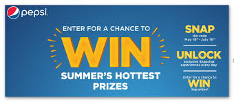 Sweepstakes by Pepsi Fire Summer Sweepstakes 4 Winners Each Day Over 300 Prizes