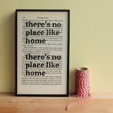there s no place like home housewarming gift wizard of oz quote on