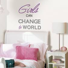 wallpops purple girls can change the world wall quote dwpq2436 wallpops purple girls can change the world wall quote dwpq2436 the home depot