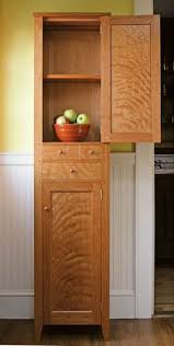 white oak cabinet with spalted tanoak drawer fronts by michael