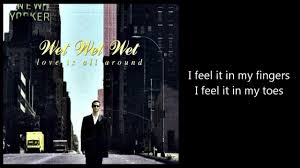 is all around with lyrics