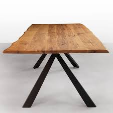 oak wood table legs avedon live edge solid wood dining table with metal legs walnut or