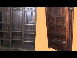 rustic solid wood bookcases youtube