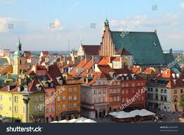 warsaw poland old town unesco world stock photo 84570994