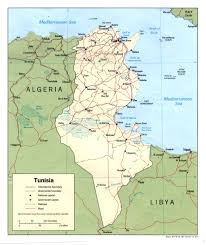 tunisia on africa map tunisia maps perry castañeda map collection ut library
