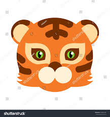 tiger animal carnival mask vector illustration stock vector