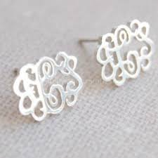 monogrammed earrings best monogrammed stud earrings products on wanelo