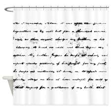 Shower Curtains With Writing Script Writing Shower Curtains Cafepress