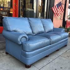 teal blue leather sofa down up classic leather sofa by hancock u0026 moore u2014 casa victoria