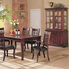 Dining Room Table And China Cabinet Coaster Newhouse Buffet And Hutch China Cabinet In Cherry Finish