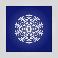 die cut paper card with cutout mandala ornament may be used