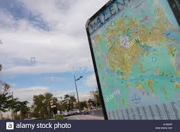Valencia Spain Map by Valencia Spain Tourist Visitor City Centre Map On Pedestrian