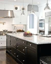 kitchen island black cabinets white countertops electricnest info