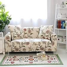 one piece stretch sofa slipcover amazon com forcheer couch covers 1 piece stretch printed sofa cover