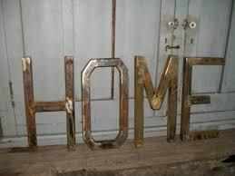 metal letters home decor designs ideas