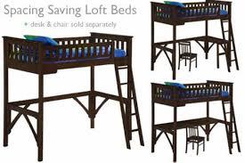 Bunk Bed Futon Desk Twin Loft Bed With Desk Kids Loftbed Espresso The Futon Shop