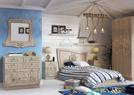 interior children u0027s room with a sea theme in the style of vintage