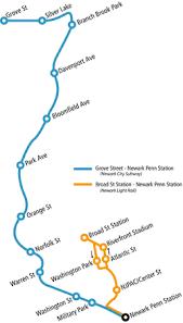 hudson bergen light rail map newark light rail