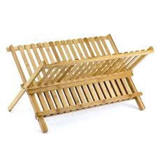 dishes rack small 2 tier kitchen sink dish rack and tray bamboo