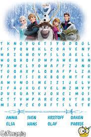 frozen wordsearch education word activities