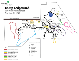 Ohio Campgrounds Map by Camp Ledgewood Scouts Of North East Ohio