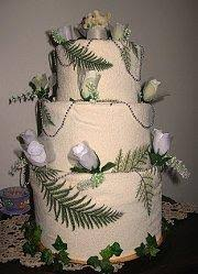 how to make a towel wedding cake lovetoknow