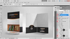 free psd template presentation folder mockup