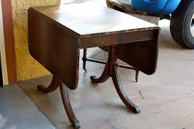 Drop Side Table Makemeprettyagain My Drop Leaf Table Restoration