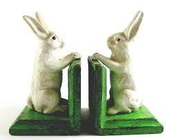 rabbit bookends buy rabbit bookends cast iron aged appearance bunnies