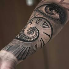 time for clock themed sleeve tattoos custom tattoo design