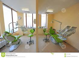 twin dental treatment chairs dentists office royalty free stock