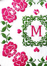 sew monogram cross stitch pattern
