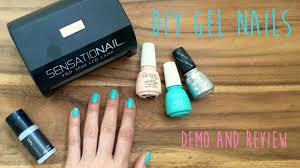 diy gel nails using sensationail kit with china glaze gelaze