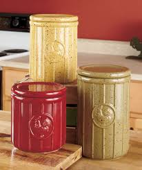 canisters for kitchen counter set of 3 speckled rooster canisters country kitchen counter decor