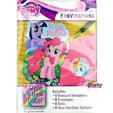 my little pony theme invitation ebay