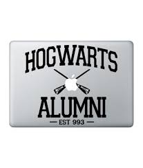 hogwarts alumni sticker hogwarts tagged macbook decals macmerise creations llp