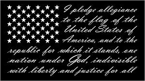 I Pledge Of Allegiance To The Flag Amazon Com American Flag Pledge Of Allegiance Vinyl Truck Window