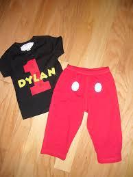 infant toddler boys 1st birthday mickey mouse 1 set shirt