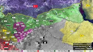 Syria Battle Map by Map Of Current Situation In Aleppo Northern Countryside Syria