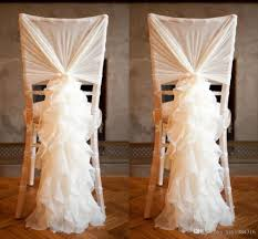 ruffled chair covers 2018 2015 new arrival chiffon chair covers for weddings flouncing