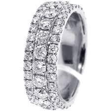 white gold eternity ring mens diamond eternity band ring 14k white gold 4 8 ct 8 mm