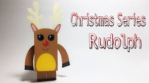 rudolph reindeer paper crafts tutorial christmas decoration idea